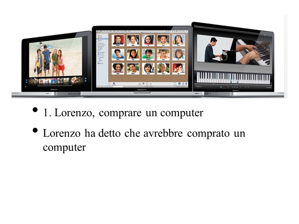 1. Lorenzo, comprare un computer