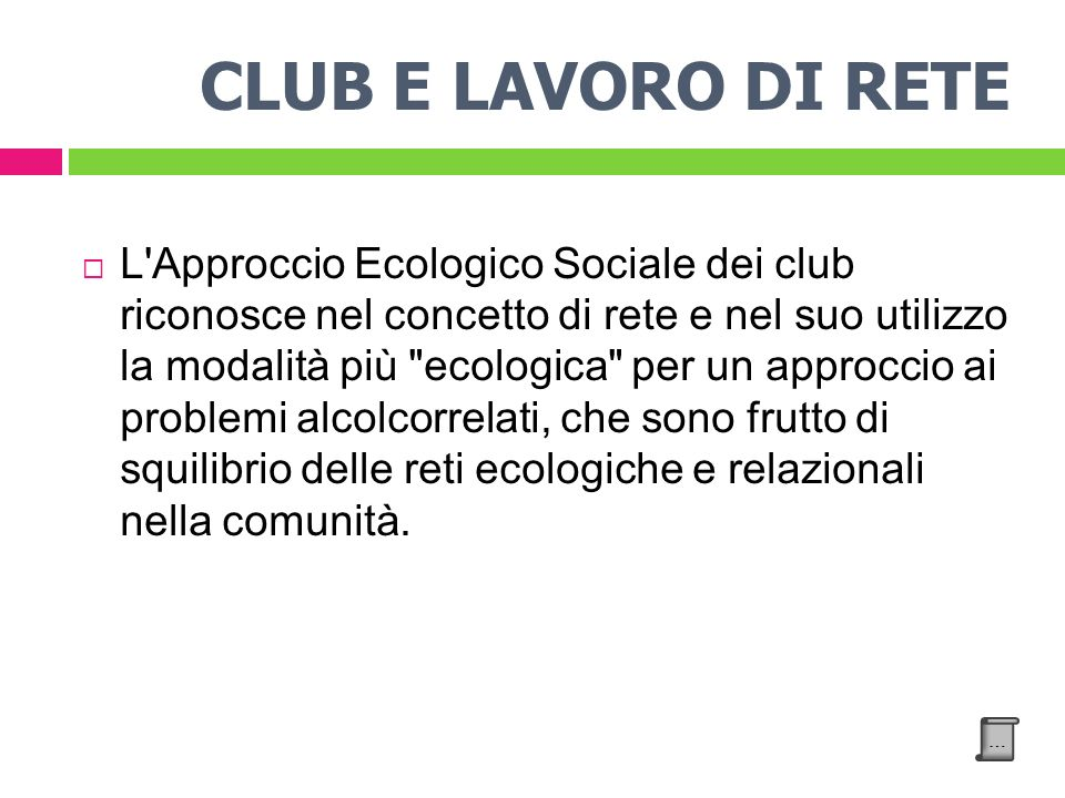 CLUB E LAVORO DI RETE