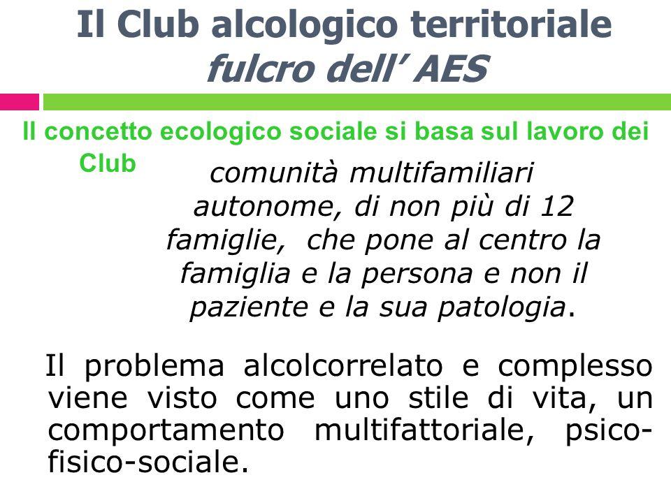 Il Club alcologico territoriale fulcro dell' AES
