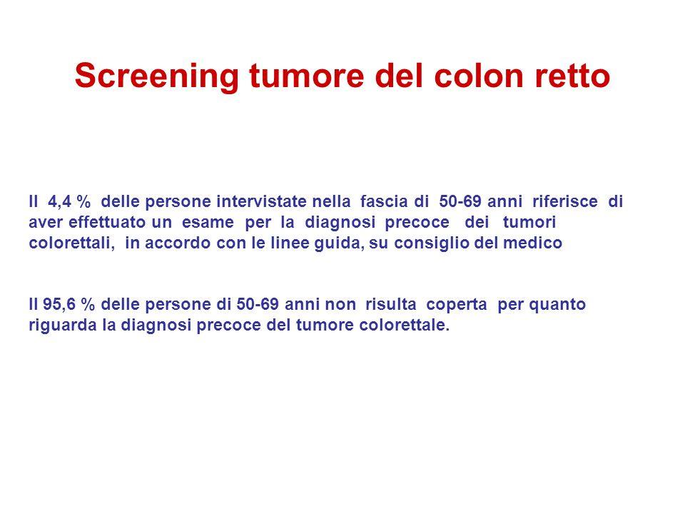 Screening tumore del colon retto