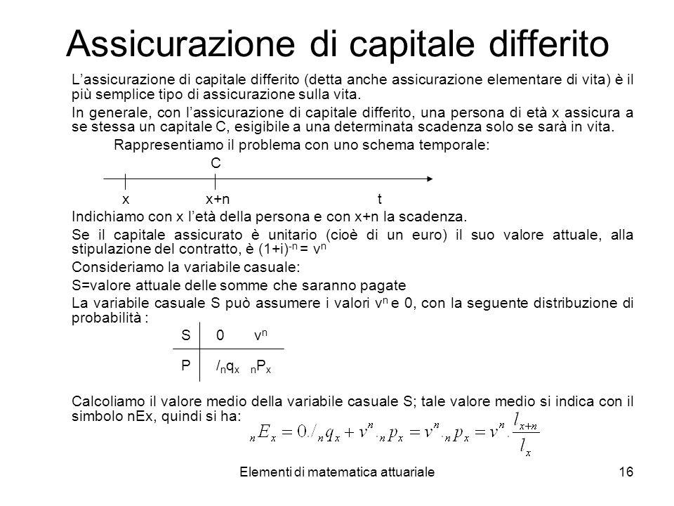Assicurazione di capitale differito