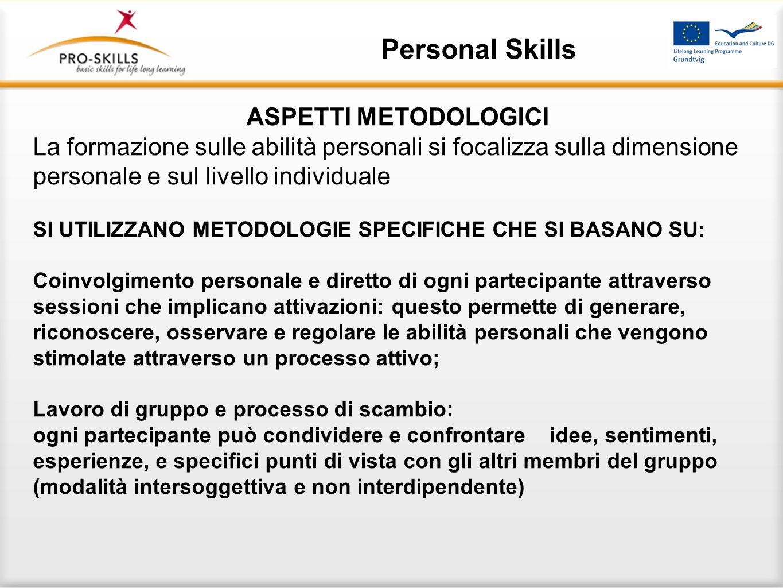RUOLO DEL GRUPPO Personal Skills