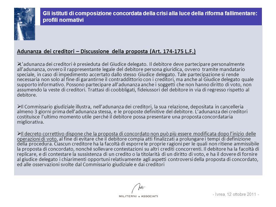 Gli istituti di composizione concordata della crisi alla luce della riforma fallimentare: profili normativi