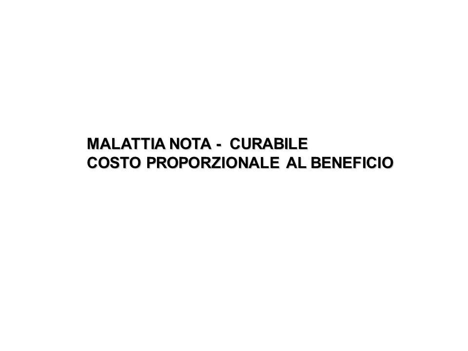MALATTIA NOTA - CURABILE