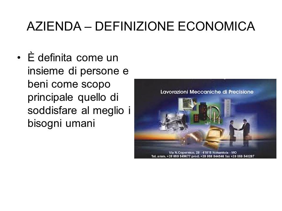 AZIENDA – DEFINIZIONE ECONOMICA