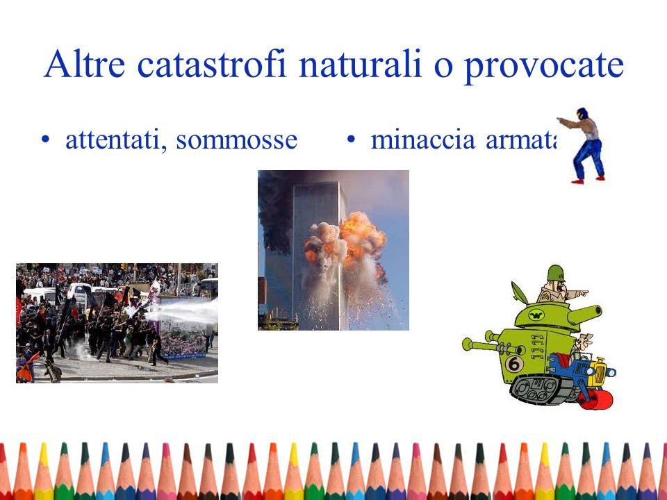 Altre catastrofi naturali o provocate