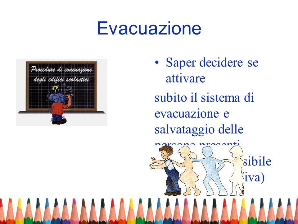 Evacuazione Saper decidere se attivare