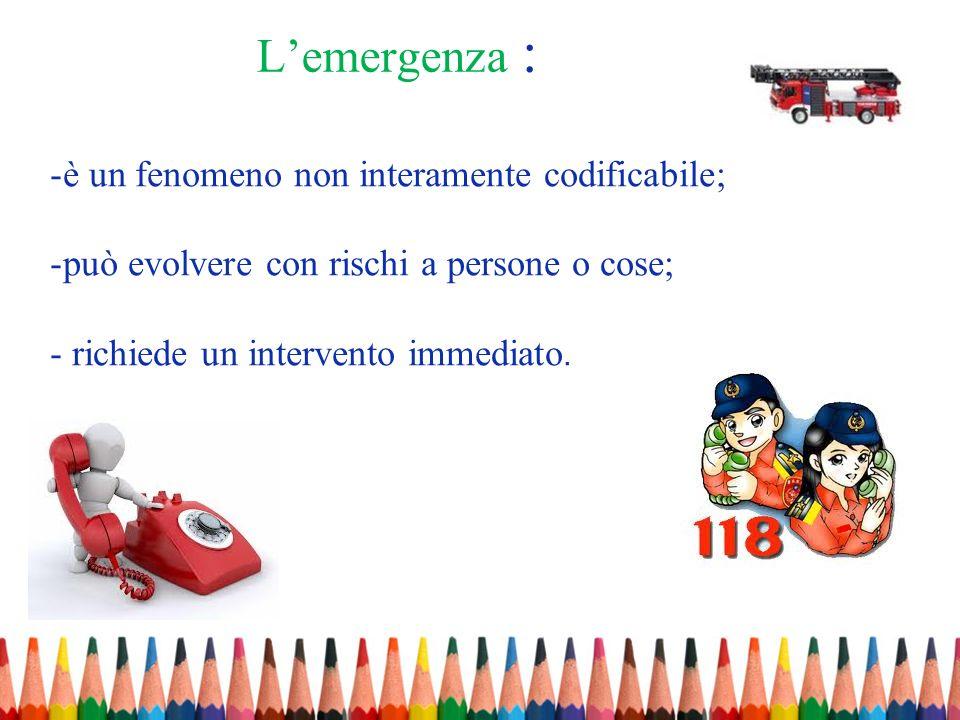 L'emergenza : è un fenomeno non interamente codificabile;