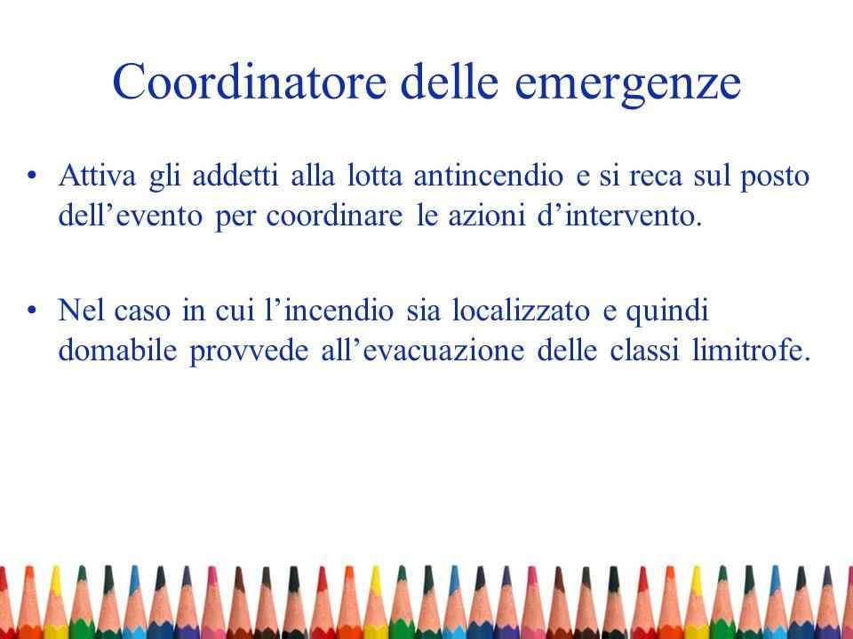 Coordinatore delle emergenze