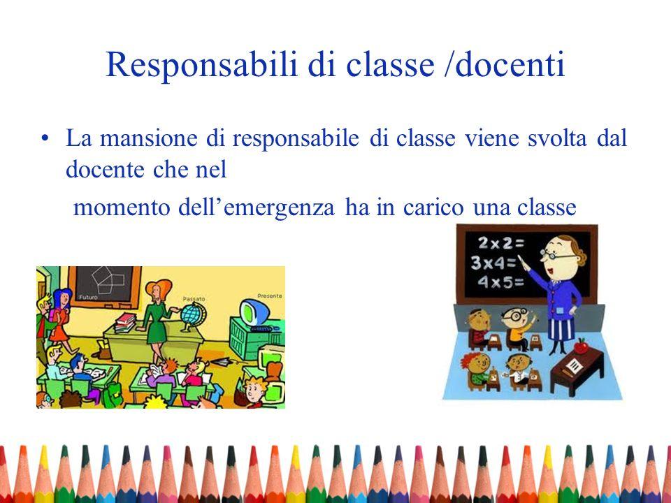 Responsabili di classe /docenti