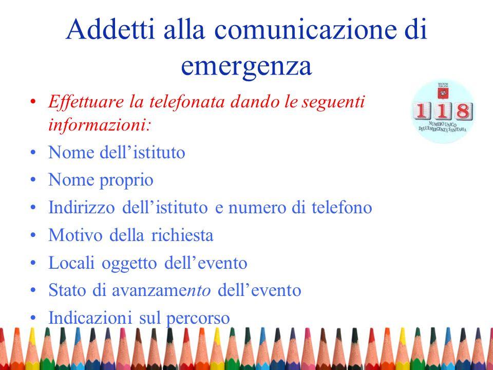 Addetti alla comunicazione di emergenza