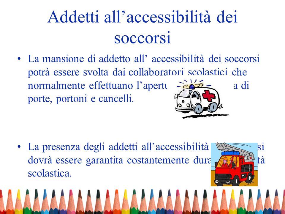 Addetti all'accessibilità dei soccorsi