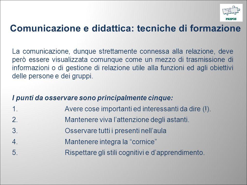 Comunicazione e didattica: tecniche di formazione