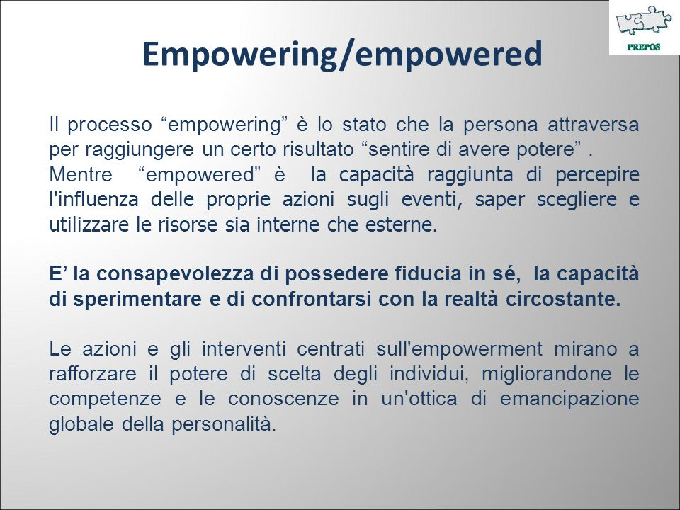 Empowering/empowered