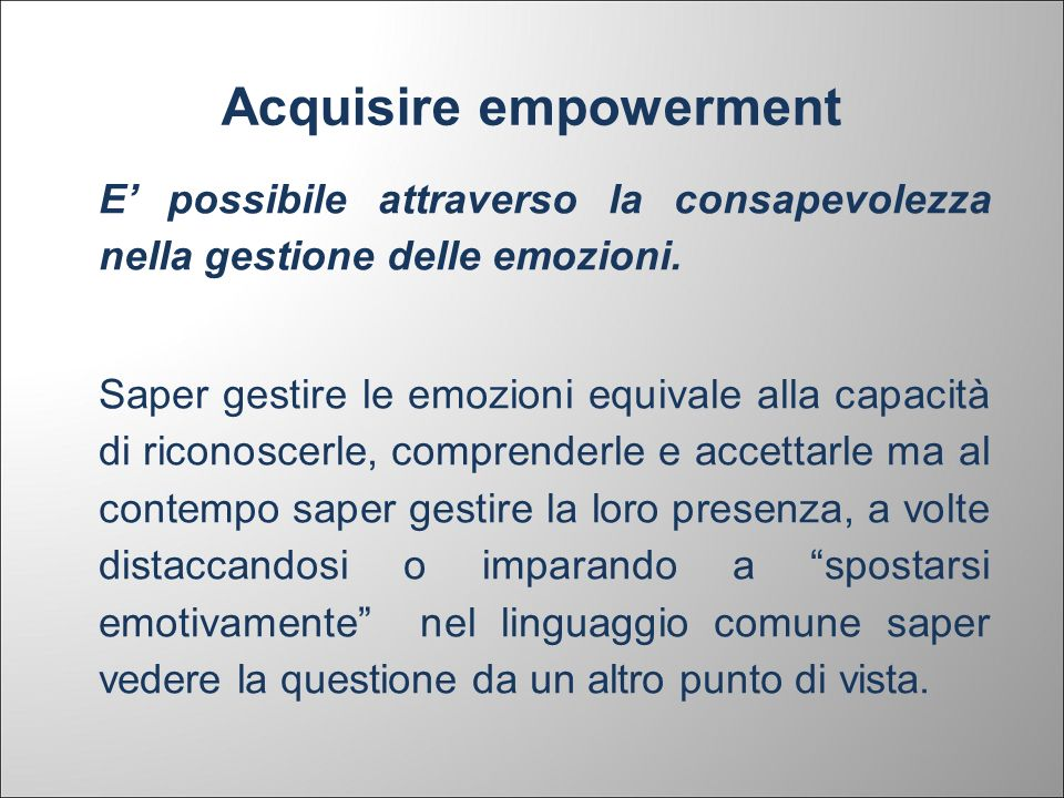 Acquisire empowerment