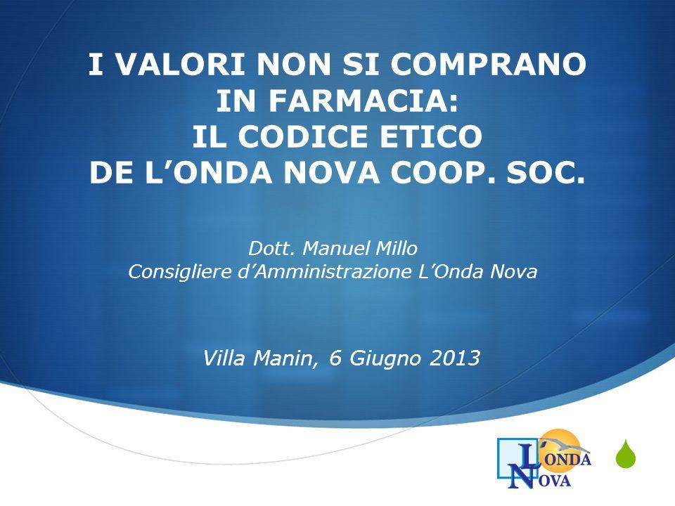Dott. Manuel Millo Consigliere d'Amministrazione L'Onda Nova
