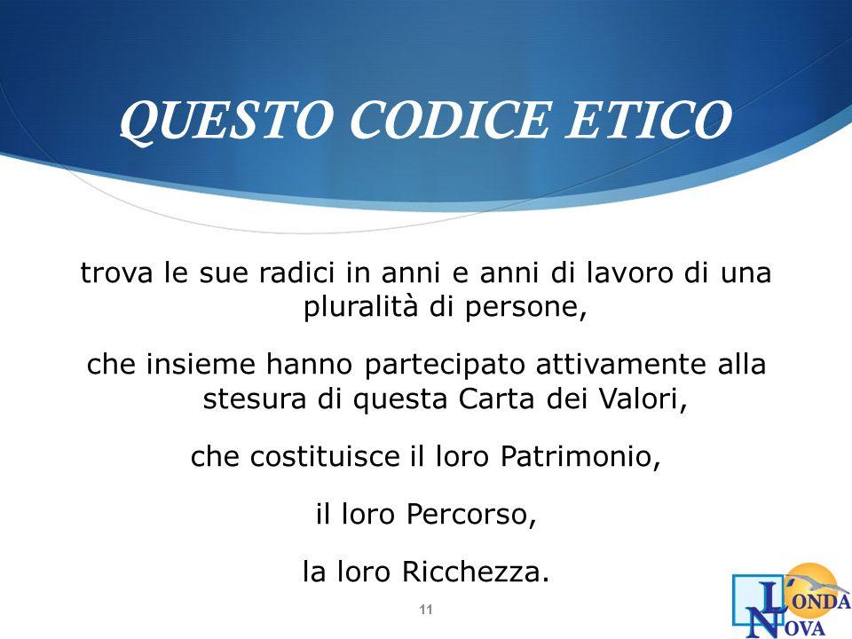 QUESTO CODICE ETICO