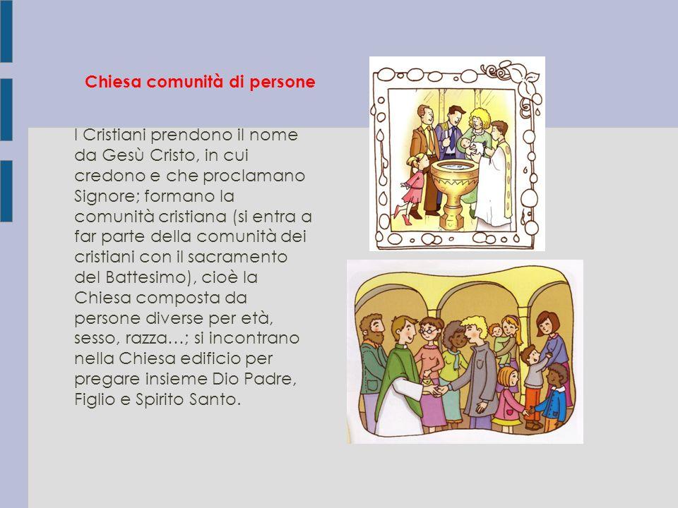Chiesa comunità di persone