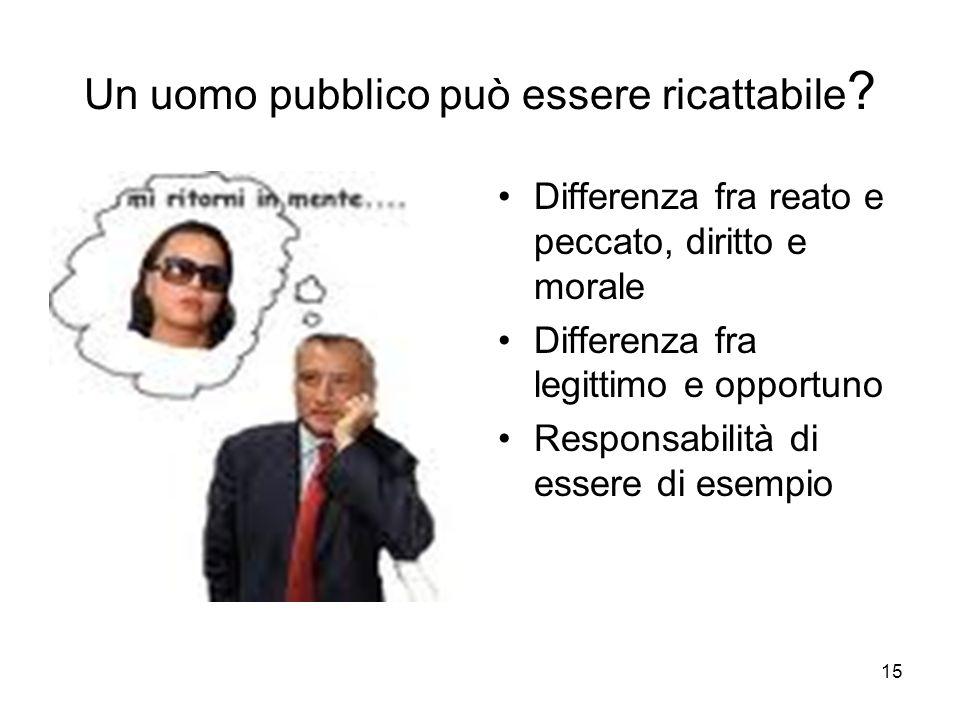 Un uomo pubblico può essere ricattabile