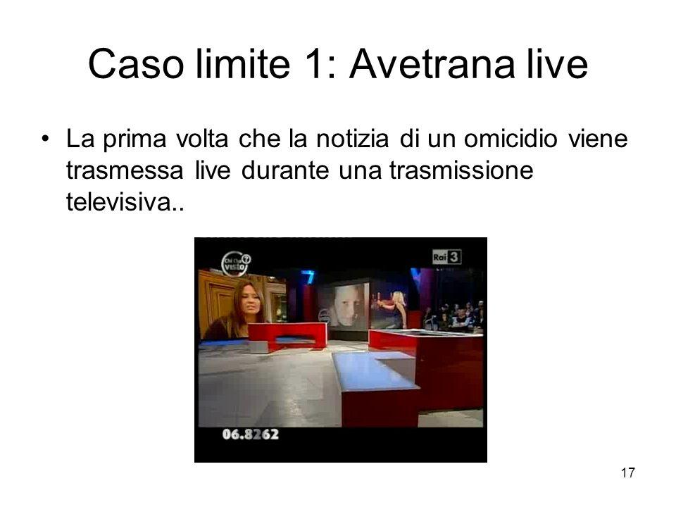 Caso limite 1: Avetrana live