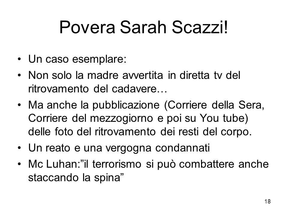 Povera Sarah Scazzi! Un caso esemplare:
