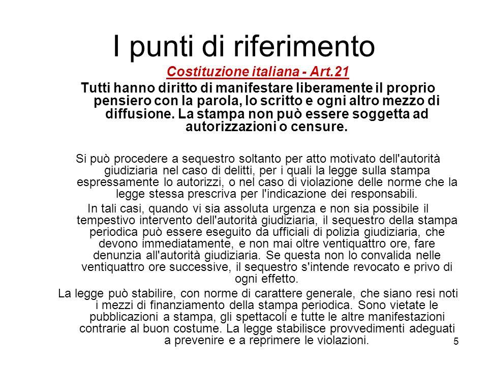 Costituzione italiana - Art.21