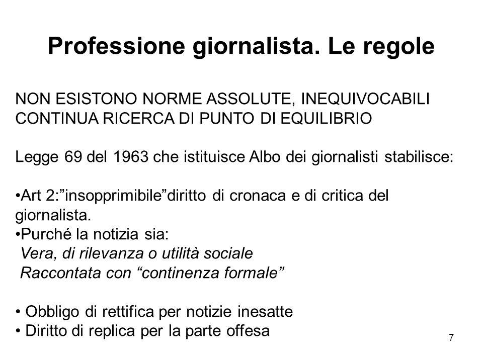 Professione giornalista. Le regole