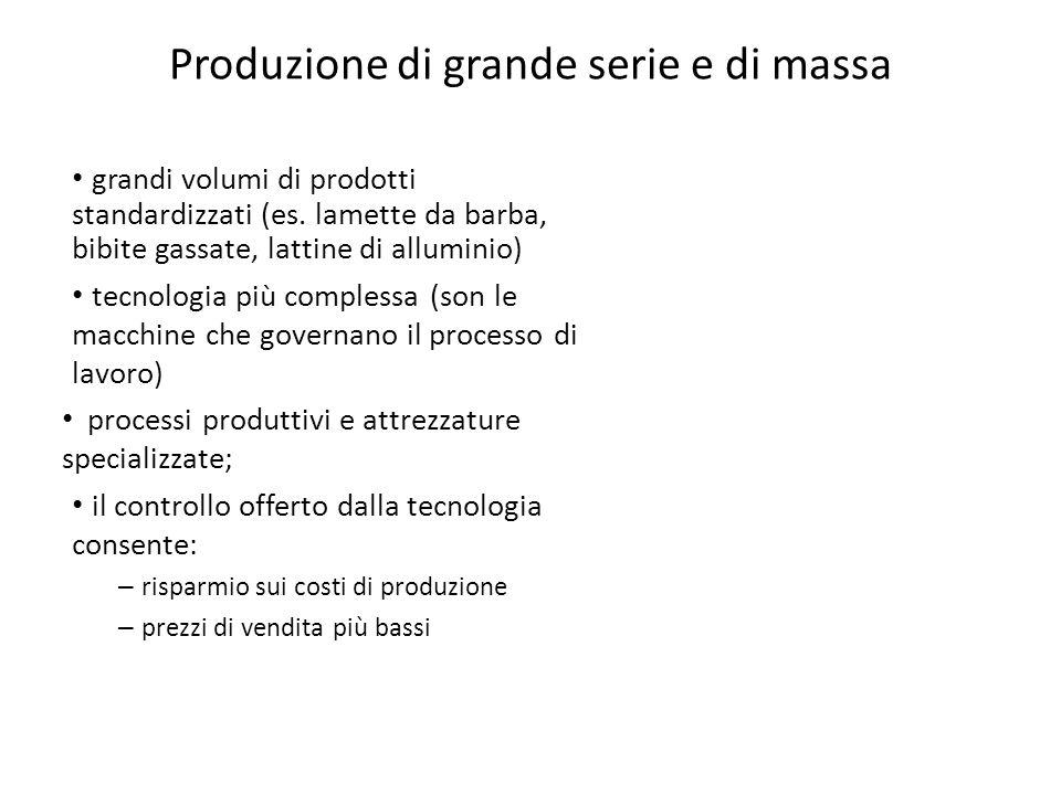Produzione di grande serie e di massa