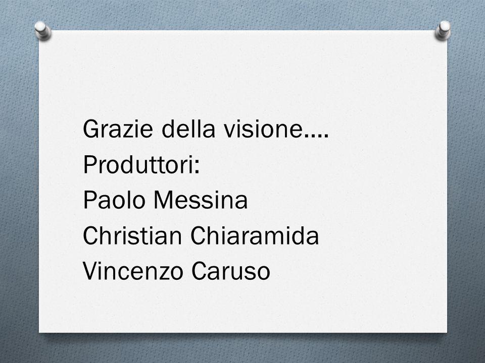 Grazie della visione…. Produttori: Paolo Messina Christian Chiaramida Vincenzo Caruso