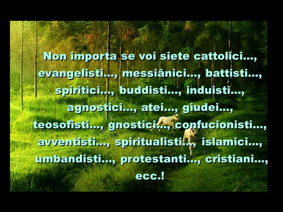 Non importa se voi siete cattolici. , evangelisti. , messiânici