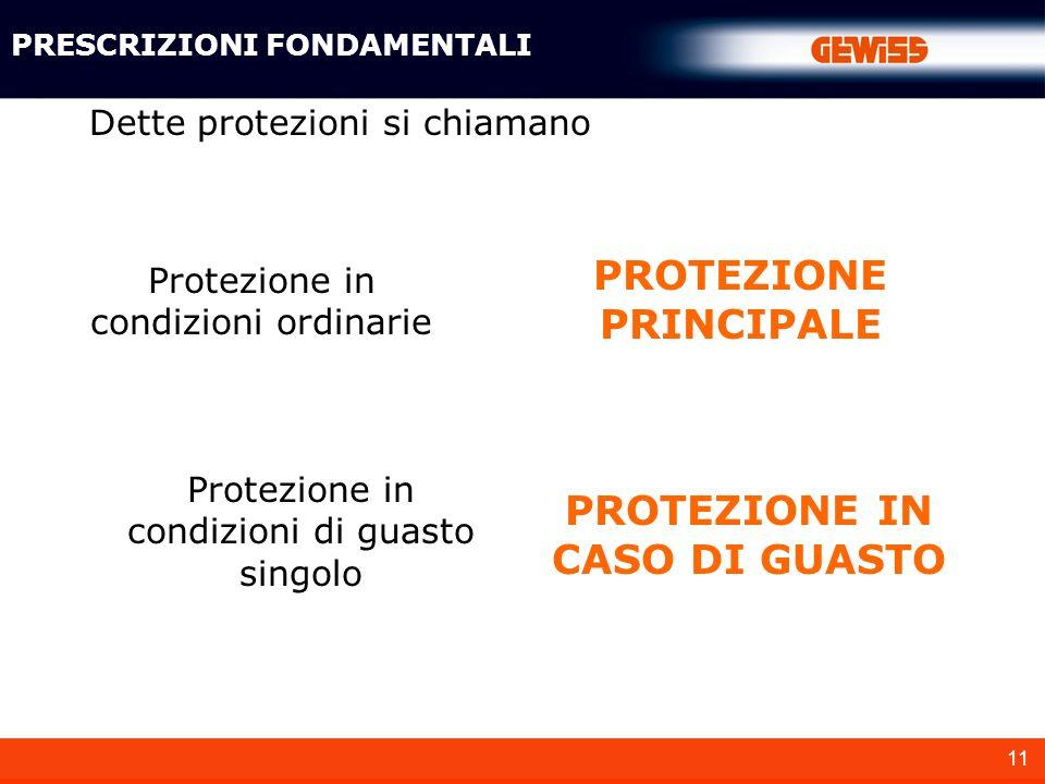 PROTEZIONE PRINCIPALE PROTEZIONE IN CASO DI GUASTO