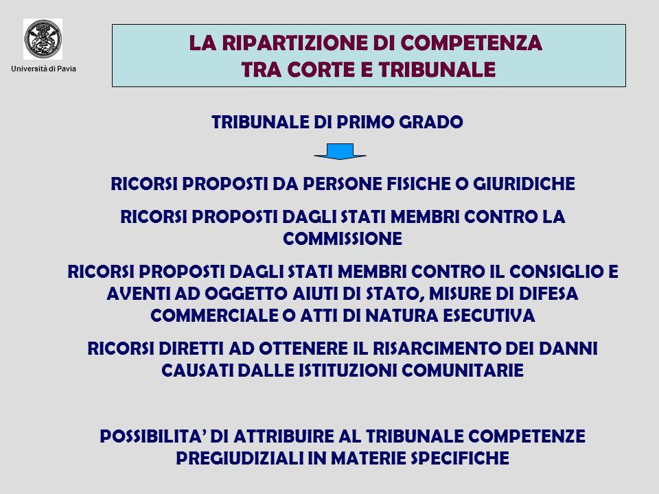 LA RIPARTIZIONE DI COMPETENZA TRA CORTE E TRIBUNALE