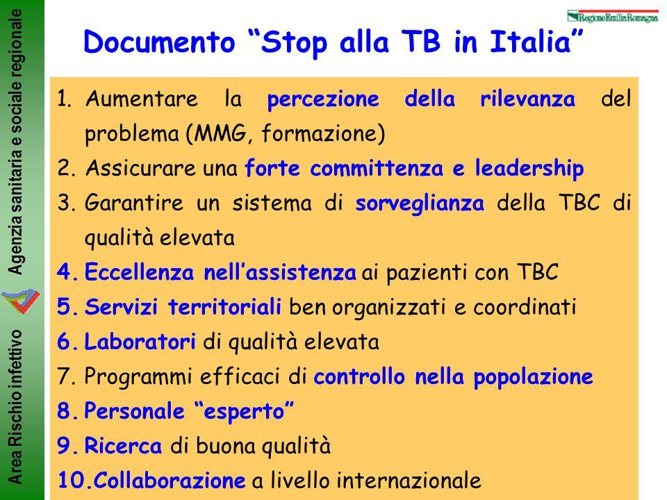 Documento Stop alla TB in Italia