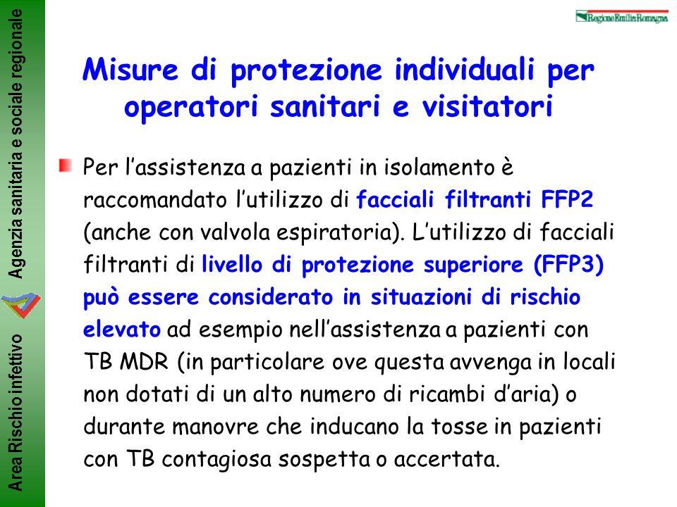 Misure di protezione individuali per operatori sanitari e visitatori