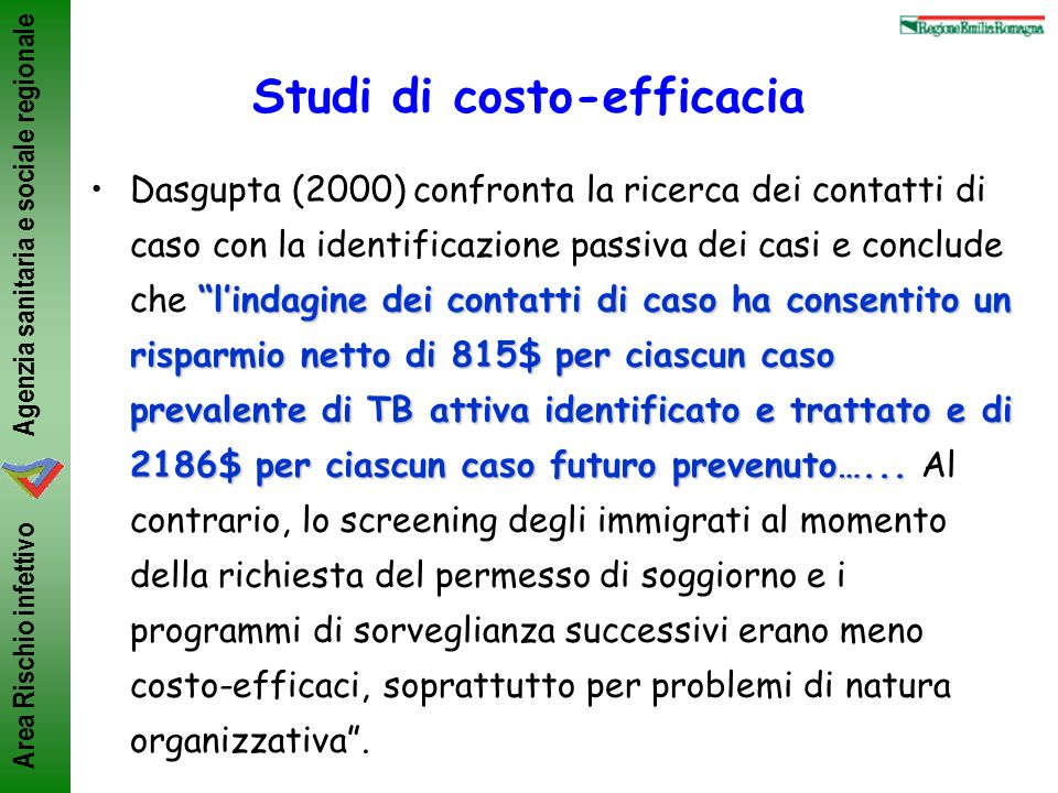 Studi di costo-efficacia