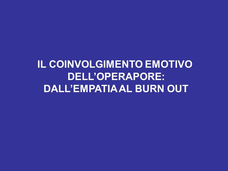 IL COINVOLGIMENTO EMOTIVO DALL'EMPATIA AL BURN OUT