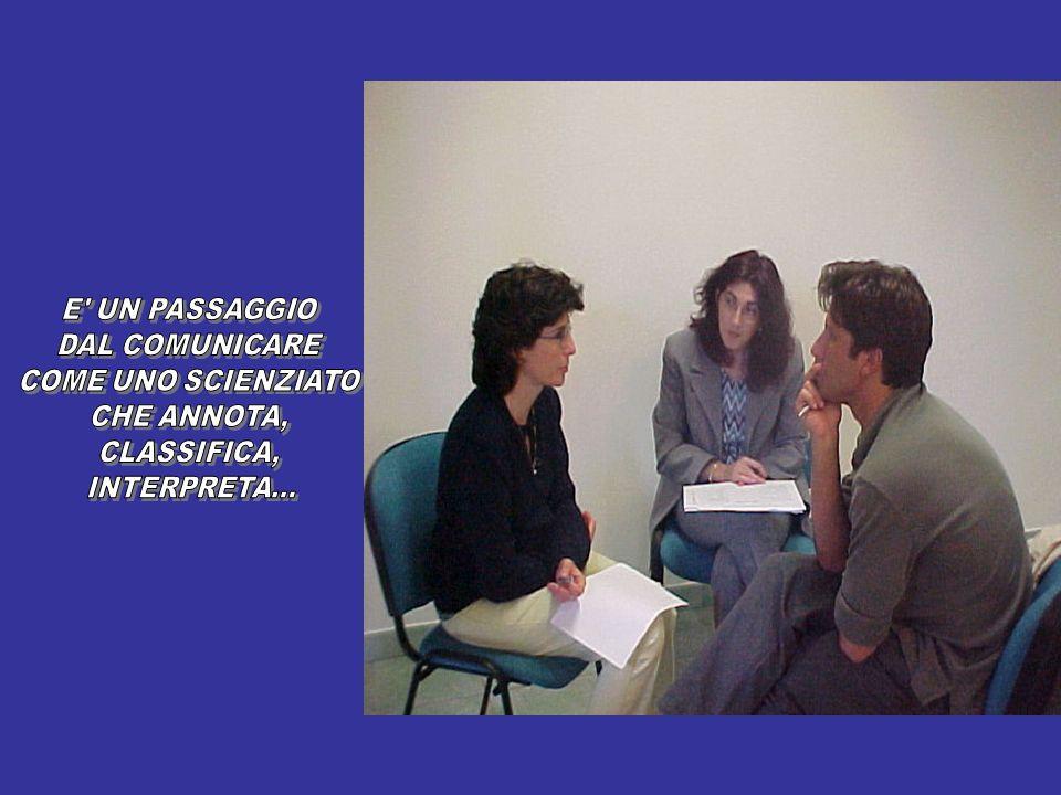 E UN PASSAGGIO DAL COMUNICARE COME UNO SCIENZIATO CHE ANNOTA, CLASSIFICA, INTERPRETA...