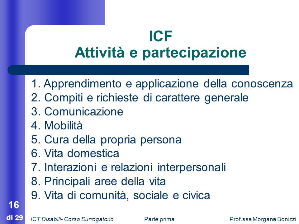 ICF Attività e partecipazione