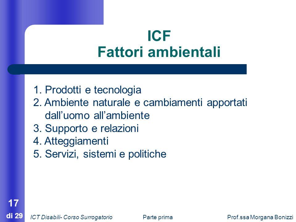 ICF Fattori ambientali
