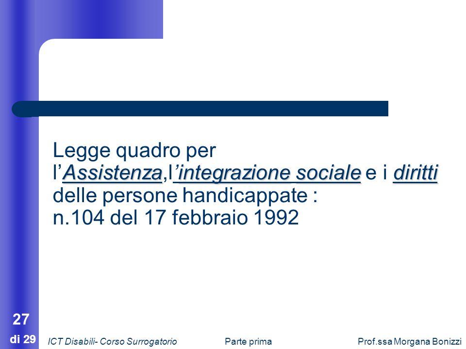 Legge quadro per l'Assistenza,l'integrazione sociale e i diritti delle persone handicappate :