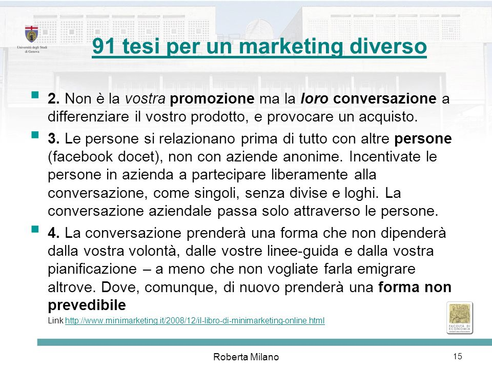 91 tesi per un marketing diverso