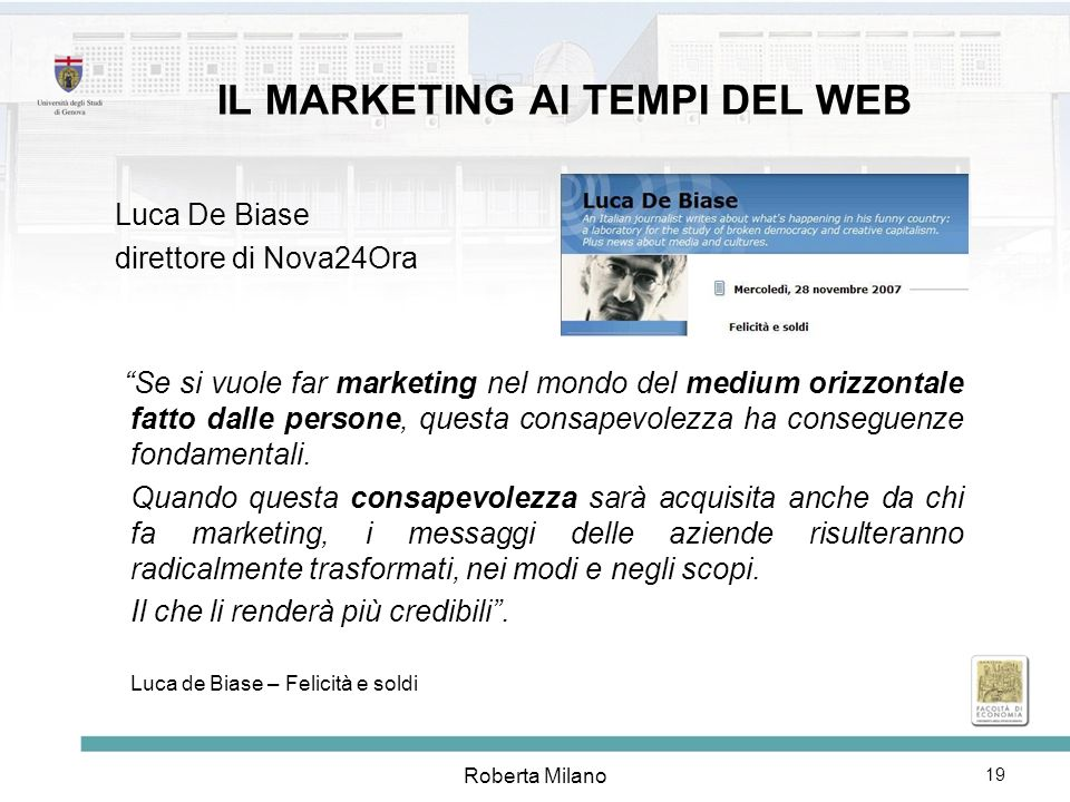 IL MARKETING AI TEMPI DEL WEB