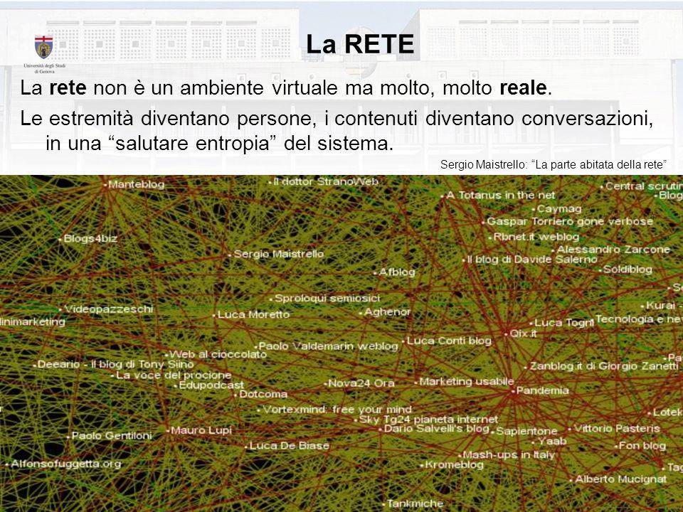 La RETE La rete non è un ambiente virtuale ma molto, molto reale.