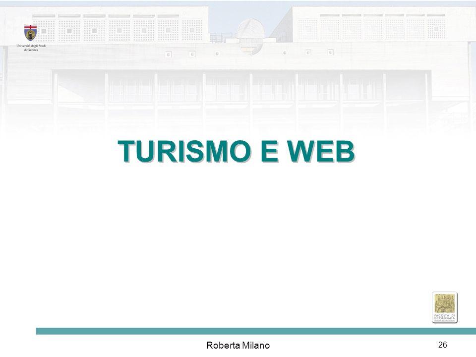 TURISMO E WEB Roberta Milano