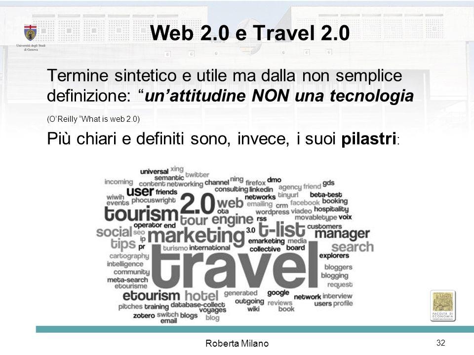 Web 2.0 e Travel 2.0 Termine sintetico e utile ma dalla non semplice definizione: un'attitudine NON una tecnologia.