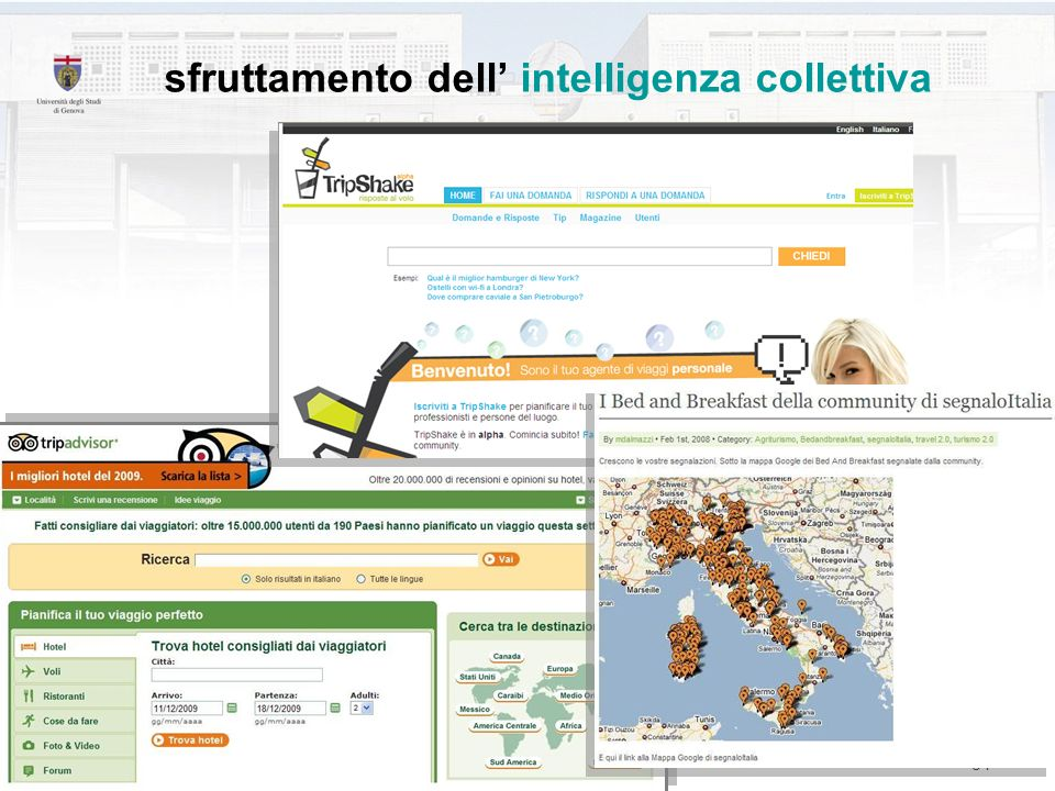 sfruttamento dell' intelligenza collettiva