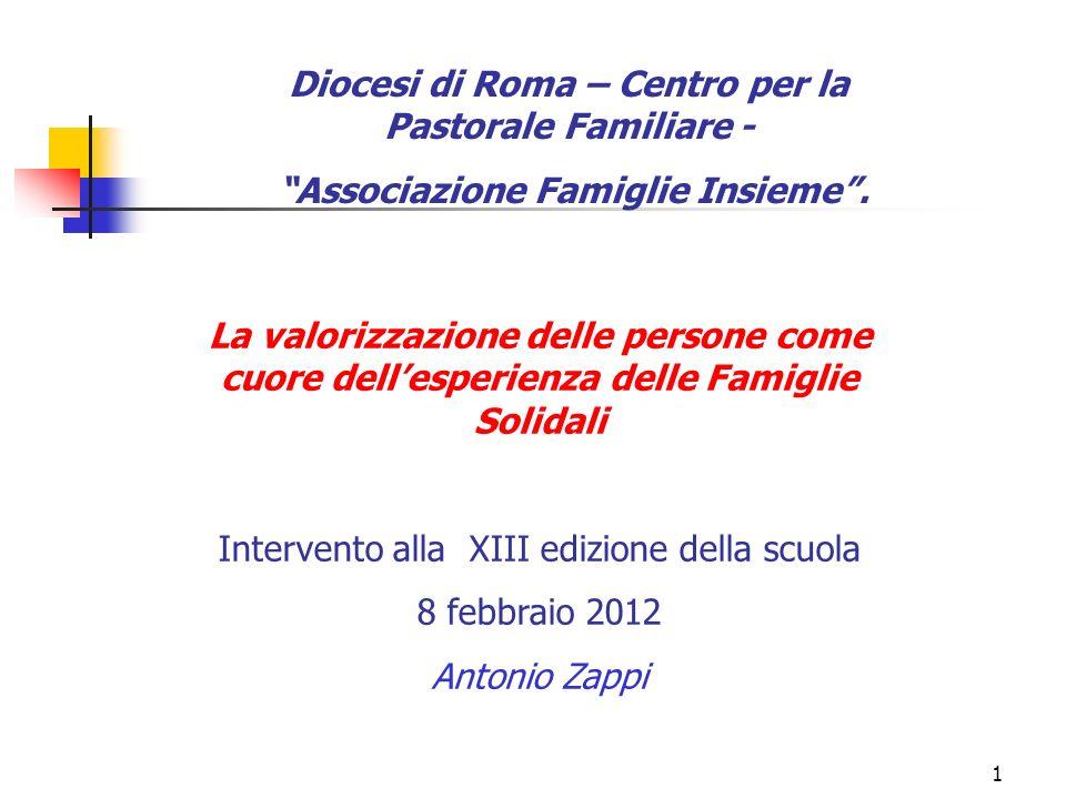 Diocesi di Roma – Centro per la Pastorale Familiare -