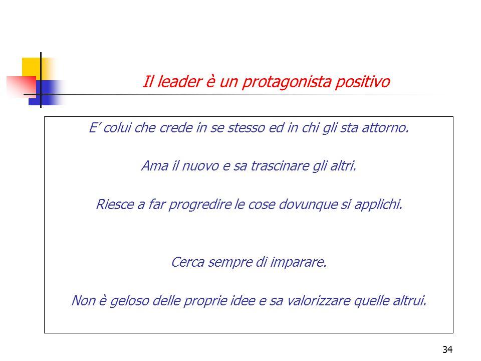 Il leader è un protagonista positivo