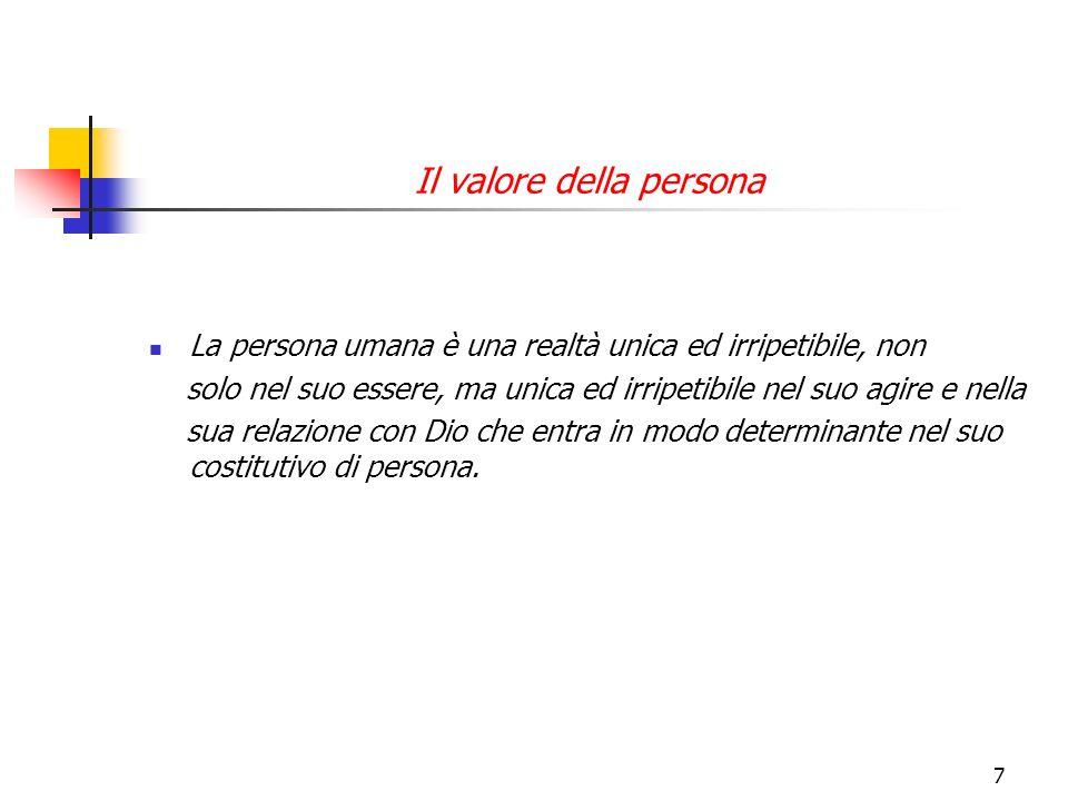 Il valore della persona