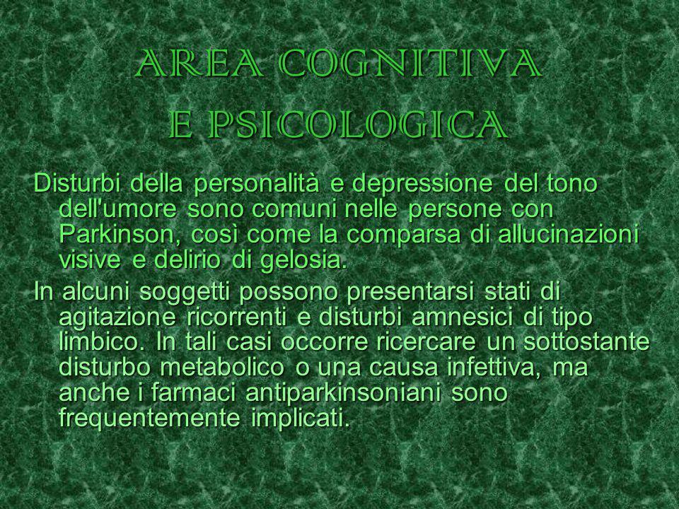 AREA COGNITIVA E PSICOLOGICA